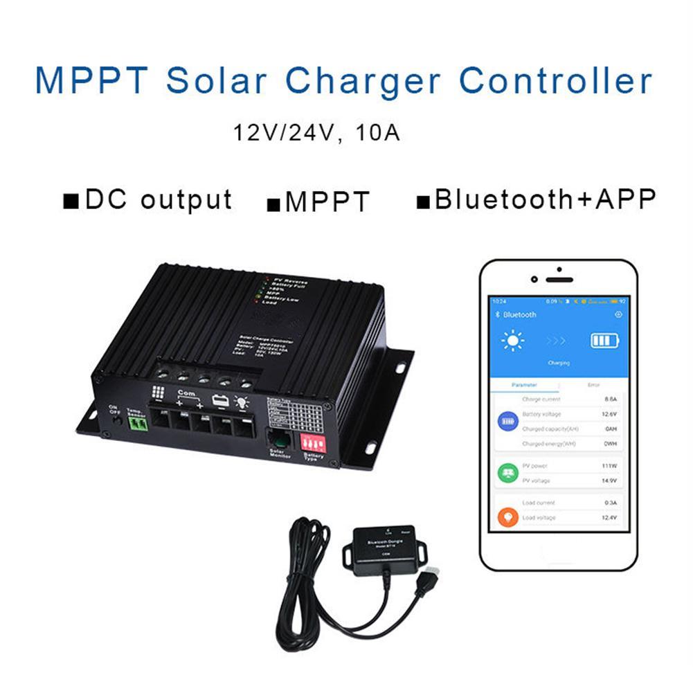🛍 MPPT контроллер солнечного заряда с Bluetooth солнечной панелью регулятор заряда гель/AGM/затопленный/LiFePO4 (12,8 V)/литий-ионный (NCM)