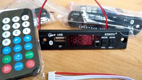 🛍 Kebidu автомобильный аудио USB TF FM радио модуль беспроводной Bluetooth 5 в 12 В MP3 WMA декодер плата MP3 плеер с пультом дистанционного управления для автомобиля