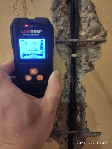 🛍 LOMVUM металлоискатель с подсветкой черный AC деревянный кабель искателя провода глубина TrackerUndeground Sturs настенный сканер LCD HD дисплей звуковой сигнал
